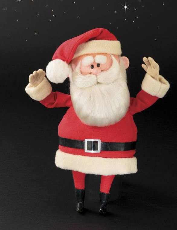 "PROFILES IN HISTORY VIA AP                                 This image released by Profiles in History shows a Santa Claus puppet used in the filming of the 1964 Christmas special ""Rudolph the Red-Nosed Reindeer."" A buyer paid $368,000 for the Rudolph and Santa Claus figures used in the perennially beloved Christmas special ""Rudolph the Red Nosed Reindeer."""