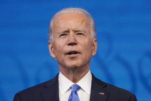 ASSOCIATED PRESS                                 President-elect Joe Biden speaks after the Electoral College formally elected him as president at The Queen theater in Wilmington, Del.