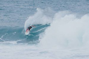 COURTESY BRENT / WORLD SURF LEAGUE                                 Yago Dora of Brazil won Heat 2 of Round 1 of the Billabong Pipe Masters on Wednesday at Banzai Pipeline.