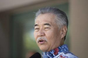 CINDY ELLEN RUSSELL / AUGUST 25 Gov. David Ige speaking at a press conference.