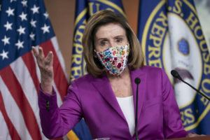 ASSOCIATED PRESS                                 Speaker of the House Nancy Pelosi, D-Calif., held a news conference on the day after violent protesters loyal to President Donald Trump stormed the U.S. Congress, at the Capitol in Washington, Thursday.