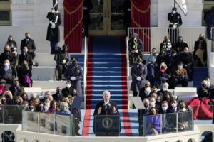 ASSOCIATED PRESS                                 President Joe Biden speaks during the 59th Presidential Inauguration at the U.S. Capitol in Washington.