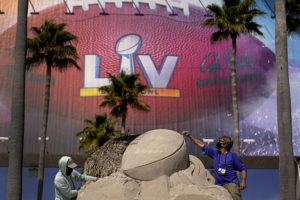 Tampa readies for Super Bowl 55 between Tampa Bay Buccaneers and Kansas City Chiefs