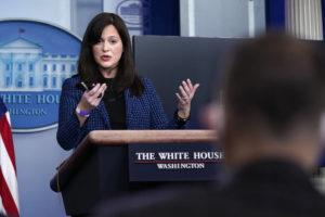 ASSOCIATED PRESS                                 White House deputy national security adviser Anne Neuberger spoke during a press briefing, Wednesday, in Washington.