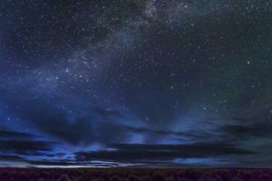 """ASSOCIATED PRESS                                 In this May 2, 2017 photo provided by Kurt Kuznicki is the Massacre Rim Wilderness Area in northwestern Nevada, 150 miles north of Reno and near the state line with Oregon. Massacre Rim is one of two areas designated as """"dark sky sanctuaries"""" in Nevada. A bill passed by the Nevada state Senate would create a state program to encourage tourism and preservation of dark sky places."""