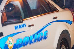 STAR-ADVERTISER / 2017                                 Maui County police have arrested and charged a man for allegedly strangling and holding a woman against her will in her Lanai residence.