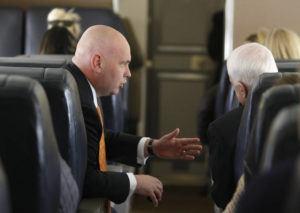ASSOCIATED PRESS / 2008                                 Steve Schmidt, left, was a senior advisor to Sen. John McCain during his presidential run in 2008.