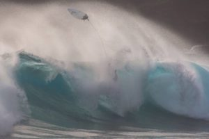 STAR-ADVERTISER FILE                                 High surf pounded Makapuu in 2015.