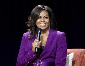 ASSOCIATED PRESS / 2019                                 Former first lady Michelle Obama speaks during an appearance in Atlanta.