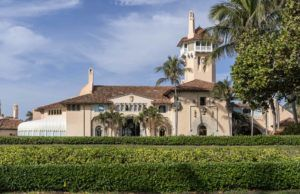 GREG LOVETT/THE PALM BEACH POST VIA ASSOCIATED PRESS                                 Mar-a-Lago in Palm Beach, Fla., as seen on Jan. 18. Former President Donald Trump's Palm Beach club has been partially closed because of a COVID outbreak.