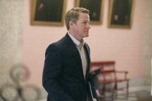 """DORAL CHENOWETH/THE COLUMBUS DISPATCH VIA ASSOCIATED PRESS, FILE                                 Ohio Lt. Gov. Jon Husted walked out of a coronavirus news conference, March 23, at the Ohio Statehouse in Columbus, Ohio. Husted is continuing to face criticism for a recent tweet where he referred to COVID-19 as the """"Wuhan virus,"""" as advocates warn the phrase is leading to an uptick of violence against Asian Americans."""
