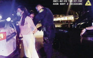 HONOLULU POLICE DEPARTMENT                                 A Honolulu Police Department officer's body-worn camera recorded the DUI arrest of state Rep. Sharon Har on Feb. 22.