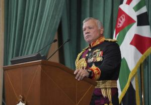 """YOUSEF ALLAN/THE ROYAL HASHEMITE COURT VIA AP / DEC. 10                                 Jordan's King Abdullah II gives a speech during the inauguration of the 19th Parliament's non-ordinary session, in Amman Jordan. Jordan's army chief of staff says the half-brother of King Abdullah II was asked to """"stop some movements and activities that are being used to target Jordan's security and stability."""" The army chief of staff denied reports Saturday, April 3, that Prince Hamzah was arrested. He said an investigation is still ongoing and its results will be made public """"in a transparent and clear form."""""""
