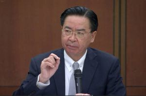 ASSOCIATED PRESS                                 Taiwanese Foreign Minister Joseph Wu speaks during a briefing today in Taipei, Taiwan.