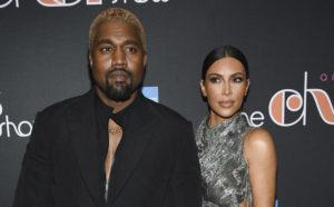 """COURTESY INVISION VIA AP / 2018                                 Kanye West and Kim Kardashian West attend """"The Cher Show"""" Broadway musical opening night in New York."""