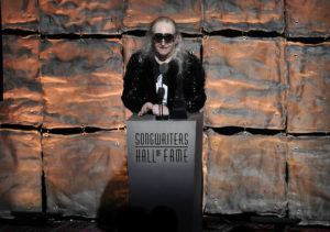 """ASSOCIATED PRESS                                 Inductee Jim Steinman speaks at the 2012 Songwriters Hall of Fame induction and awards gala in New York on June 14, 2012. Steinman, the Grammy-winning composer and playwright who wrote Meat Loaf's best-selling """"Bat Out Of Hell"""" debut album as well as hits for Celine Dion, Air Supply and Bonnie Tyler, has died, at 73. Bill Steinman told the Associated Press that his brother died Monday from kidney failure and was ill for some time."""