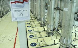 ATOMIC ENERGY ORGANIZATION OF IRAN VIA AP                                 A photo released by the Atomic Energy Organization of Iran shows centrifuge machines in the Natanz uranium enrichment facility in central Iran in 2019.
