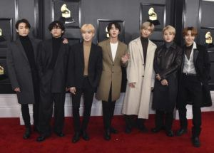 COURTESY INVISION VIA AP / 2020                                 BTS arrives at the 62nd annual Grammy Awards at the Staples Center in Los Angeles.