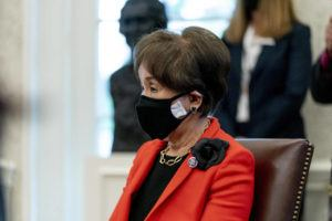 ASSOCIATED PRESS                                 Rep. Doris Matsui, D-Calif., attends a meeting with President Joe Biden and other members of the Congressional Asian Pacific American Caucus Executive Committee in the Oval Office at the White House in Washington on April 15.