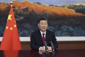 XINHUA NEWS AGENCY VIA ASSOCIATED PRESS / APRIL 20                                 Chinese President Xi Jinping delivers a keynote speech via video for the opening ceremony of the Boao Forum for Asia (BFA) Annual Conference, in Beijing.