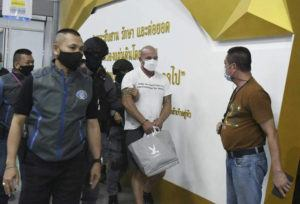ASSOCIATED PRESS                                 American Louis William Ziskin, center, was escorted by police, May 15, at the Crime Suppression Division in Bangkok, Thailand. Police said, Thursday, they are pursuing more suspects in the alleged kidnapping of a Taiwanese businessman for which Ziskin, an American entrepreneur with a criminal past and two other men have already been arrested.