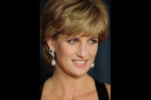 ASSOCIATED PRESS / 1995                                 Diana, Princess of Wales, smiles at the United Cerebral Palsy's annual dinner at the New York Hilton.