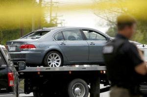 STEPHEN M. KATZ/THE VIRGINIAN-PILOT VIA AP / APRIL 21                                 A car that was damaged in a police-involved shooting is removed from the scene in Elizabeth City, N.C. Many police departments — including in large U.S. cities such as New York and Chicago — ban or strictly limit shooting into moving vehicles after concluding that the practice is ineffective and not worth the risk to human life. But it is still happening and defended as a justifiable use of force in other areas, including the small municipality of Elizabeth City.