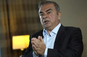ASSOCIATED PRESS                                 Fugitive ex-auto magnate Carlos Ghosn speaks during an interview with the Associated Press, in Dbayeh, north of Beirut, Lebanon, today. The embattled former chairman of the Renault-Nissan-Mitsubishi alliance dissected his legal troubles in Japan, France and the Netherlands, detailed how he plotted his brazen escape from Osaka, and reflected on his new reality in crisis-hit Lebanon, where he is stuck for the foreseeable future.