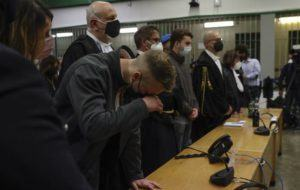 ASSOCIATED PRESS                                 Finnegan Lee Elder listened as the verdict was read, today, in the trial for the slaying of an Italian plainclothes police officer in summer 2019, in Rome.
