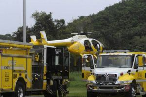 STAR-ADVERTISER / 2018                                 HFD's Fire Rescue helicopter.