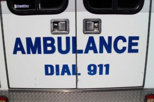 DIANE S. W. LEE / 2019                                 An ambulance.
