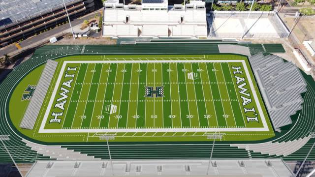 Renderings released for Ching stadium, home for UH football games