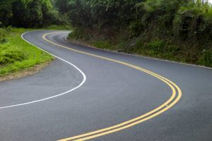 ASSOCIATED PRESS / SEPT. 2014                                 A 39-year-old visitor sustained a head injury Wednesday after a softball-sized rock fell from the mountain and struck her while she was riding in a convertible on Maui's Hana Highway, seen here in 2014.