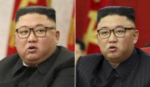 KOREAN CENTRAL NEWS AGENCY/KOREA NEWS SERVICE VIA ASSOCIATED PRESS                                 This combination of file photos provided by the North Korean government, shows North Korean leader Kim Jong Un at Workers' Party meetings in Pyongyang, North Korea, on Feb. 8, left, and June 15. Last time when Kim faced rumors about his health, the North Korean leader had walked with a cane, missed an important state anniversary or panted for breath.