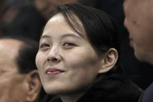 ASSOCIATED PRESS / 2018 Kim Yo Jong, sister of North Korean leader Kim Jong Un, waits for the start of the preliminary round of the women's hockey game between Switzerland and the combined Koreas at the 2018 Winter Olympics in Gangneung, South Korea.