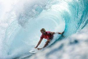 COURTESY WORLD SURF LEAGUE VIA GETTY IMAGES / 2020                                 John John Florence of Hawaii won the Billabong Pipe Masters on Oahu.
