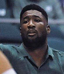 STAR-ADVERTISER / FEBRUARY 2020                                 Hawaii assistant coach Jabari Trotter called out a play, in February 2020, at the Stan Sheriff Center in Honolulu. Trotter is leaving the University of Hawaii basketball program to rejoin the Dartmouth coaching staff.