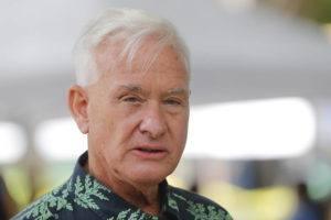 JAMM AQUINO / JAQUINO@STARADVERTISER.COM                                 Honolulu Mayor Kirk Caldwell spoke during a news conference in November 2020.