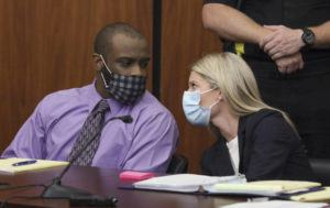 TRACY GLANTZ/THE STATE VIA ASSOCIATED PRESS                                 Defendant Nathaniel Rowland spoke with his attorney, Alicia Goode, right, during his trial in Richland County Court, Tuesday, in Columbia, S.C. Rowland is on trial for the kidnapping and murder of 21-year-old Samantha Josephson.
