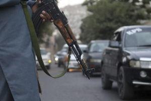 ASSOCIATED PRESS                                 A Taliban fighter patrols in Kabul, Afghanistan.