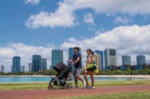 STAR-ADVERTISER / 2020                                 Walking at least 7,000 steps daily, about 3.5 miles, has significant health benefits.