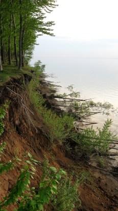 обваливающийся берег волги фотографии старая майна ульяновской области