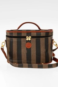 Pequin Stripe Boston Coated Canvas Νεσεσέρ Ταξιδίου