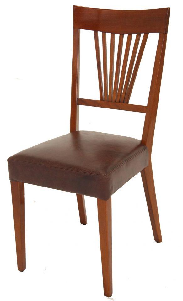 chaise bois et cuir cambridge