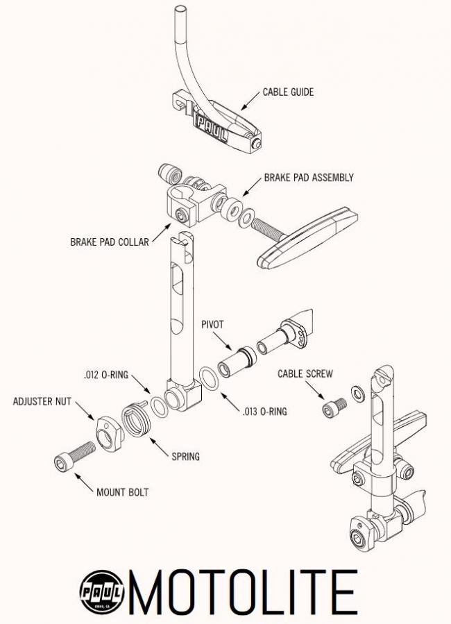 Paul Component Motolite V-Brake rim brake