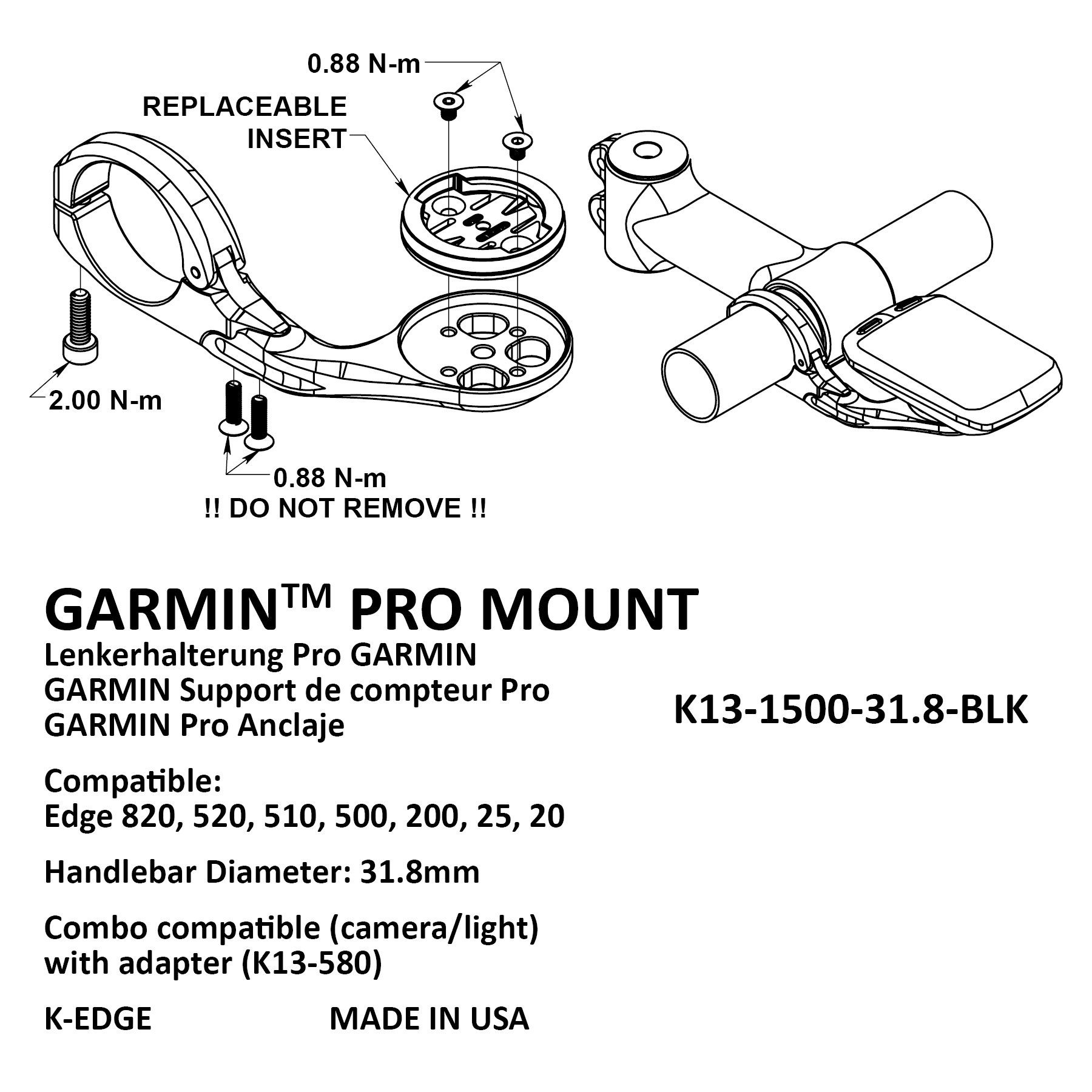 K-Edge Garmin holder