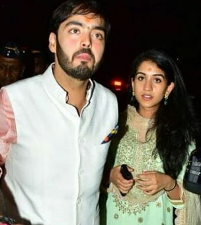 Radhika Merchant with Anant Ambani