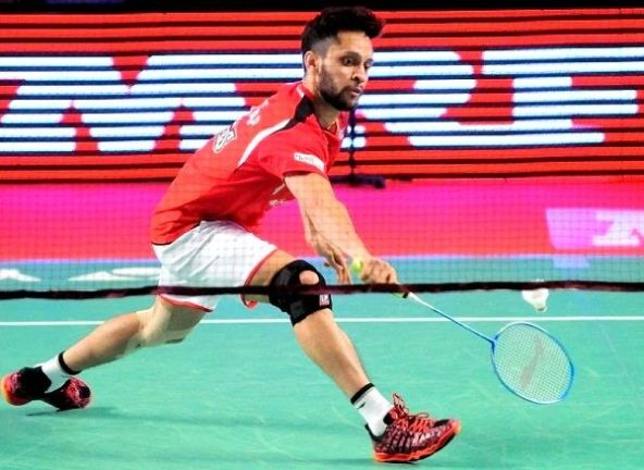 Parupalli Kashyap as a player of 'Hyderabad Hunters' team