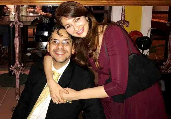 Saurabh Devendra Singh with his wife Saumya Tandon