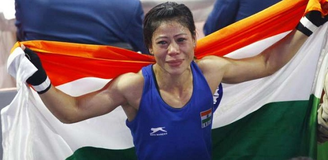 Mary Kom after her sixth World Title